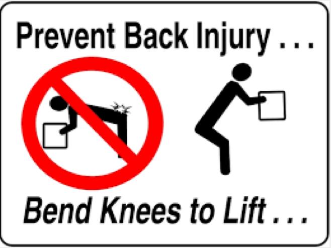 Prevent back injury image